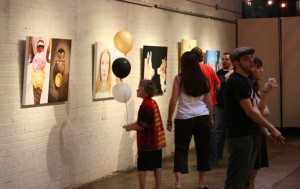 "From my exhibit ""Face to Face"" during Artwalk at Artists + Architects"