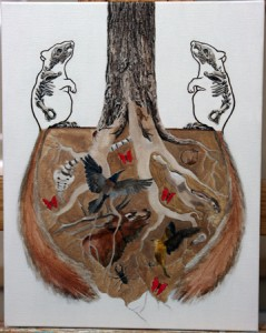 """Symbiotic"" painting process; (c) Amy Guidry 2010"