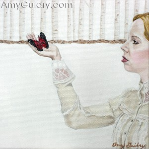 """Journey"" by Amy Guidry; acrylic on canvas; 5"" x 5""; (c) Amy Guidry 2010"