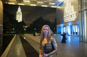 Artist Amy Guidry outside of the Captiol Park Museum, Baton Rouge, LA