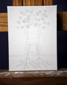 "Work in progress by Amy Guidry; 6""w x 8""h; (c) Amy Guidry 2015"