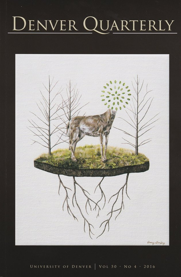 """""""Preservation"""" by Amy Guidry on the cover of the Denver Quarterly, Vol. 50 No. 4, 2016"""