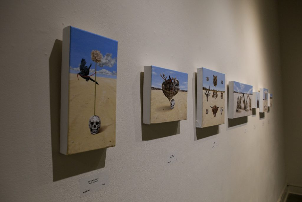 Installation view of paintings by Amy Guidry at LeMieux Galleries, New Orleans, LA; all acrylic on canvas; (c) Amy Guidry 2016